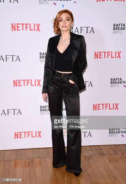 Sophie Simnett arriving for the annual BAFTA Breakthrough Brit Party at Banqueting House London