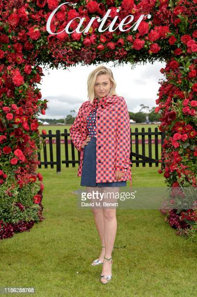 Sophie Simnett attends Cartier Queen's Cup Polo 2019 on June 16 2019 in Windsor England