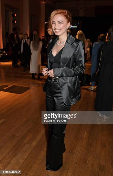 Sophie Simnett attends the BAFTA Breakthrough Brits celebration event in partnership with Netflix at Banqueting House on November 7 2019 in London...