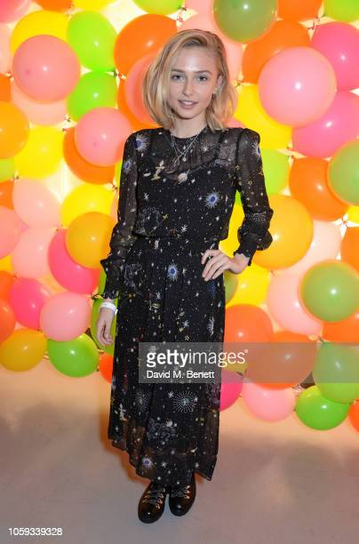 Sophie Simnett attends the Cath Kidston party celebrating the launch of their new collection in collaboration with TV and radio presenter Fearne...
