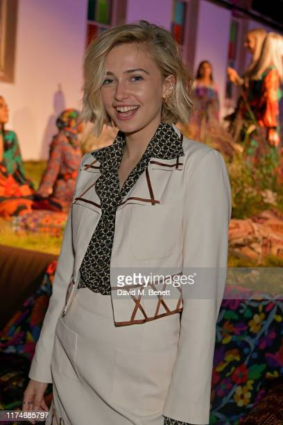 Sophie Simnett attends the RIXO presentation during London Fashion Week September 2019 on September 14 2019 in London England