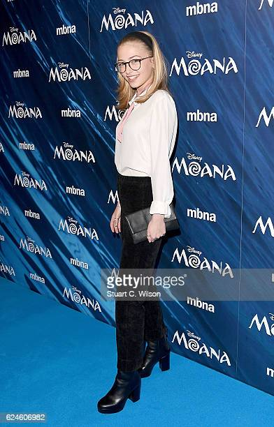 Sophie Simnett attends the UK Gala screening of Disney's MOANA at BAFTA on November 20 2016 in London England