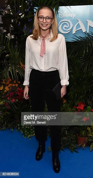 Sophie Simnett attends the UK Gala screening of MOANA at BAFTA on November 20 2016 in London England