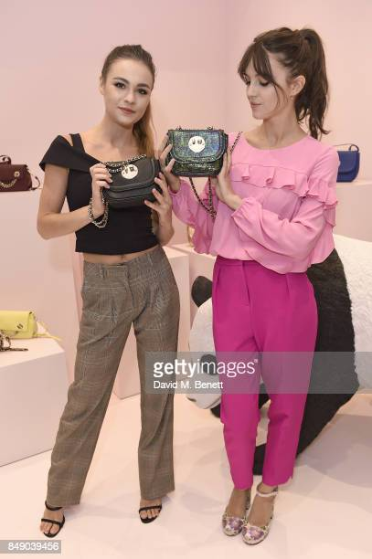 Sophie Skelton and Ella Hunt attend the Hill and Friends SS18 Presentation during London Fashion Week on September 18 2017 in London England