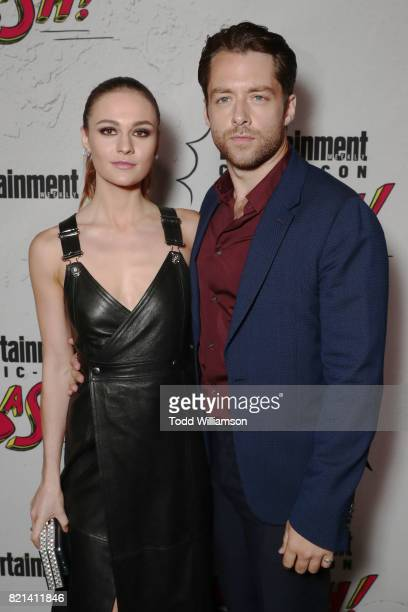 Sophie Skelton and Richard Rankin at Entertainment Weekly's annual ComicCon party in celebration of ComicCon 2017 at Float at Hard Rock Hotel San...