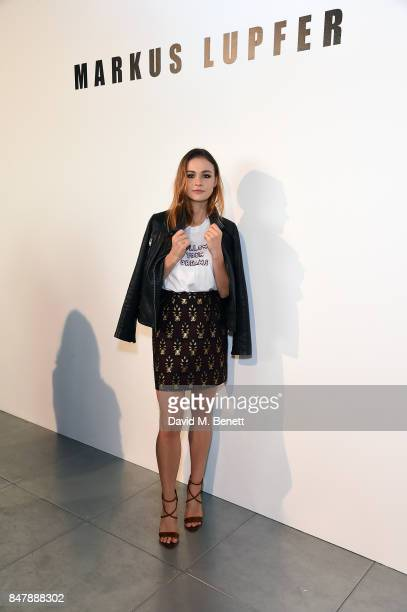 Sophie Skelton attends the Markus Lupfer SS18 presentation during London Fashion Week September 2017 on September 16 2017 in London United Kingdom