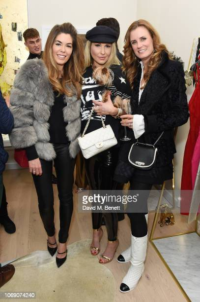 Sophie Stanbury Adela King and guest attend Jitrois X Alina London Collaboration Launch Party at Fashion Joint on December 6 2018 in London England