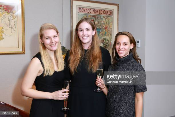 Sophie Streitwieser Courtney Walls and Ariel De Sal during the Macklowe Gallery Hosts 2018 Winter Antiques Show Kickoff Event at 445 Park Avenue on...