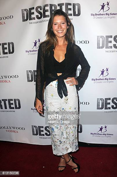 Sophie Strobele arrives for the Premiere Of Winterstone Pictures' 'Deserted' held at Majestic Crest Theatre on October 6 2016 in Los Angeles...