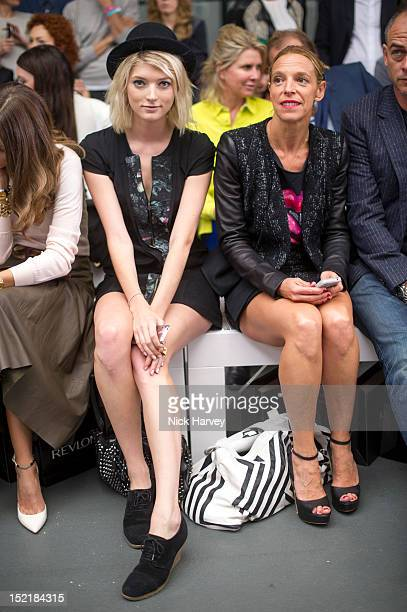 Sophie Sumner and Tiphaine chapman attend the front row for the Antonio Berardi show on day 4 of London Fashion Week Spring/Summer 2013 at Brewer...