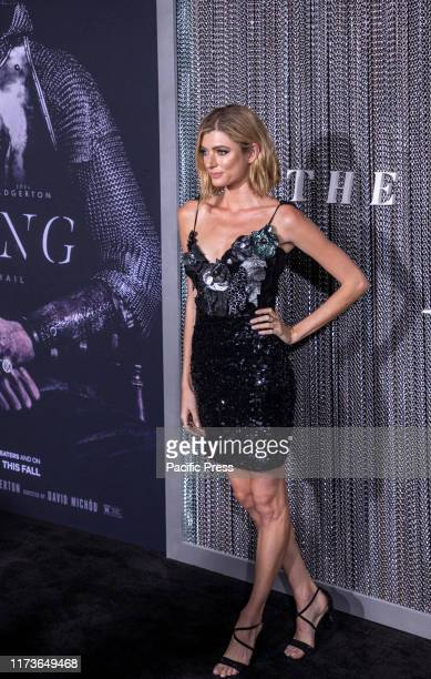 Sophie Sumner attends the New York premiere of The King at SVA Theater Manhattan