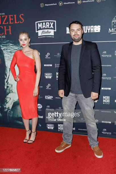 Sophie Swan and David Brueckner attend the photocall and premiere of the horror movie Rapunzels Fluch at UCI Luxe Mercedes Platz on July 31 2020 in...