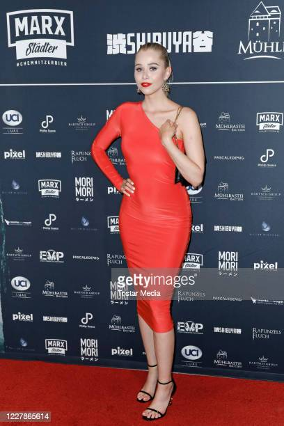 Sophie Swan attends the photocall and premiere of the horror movie Rapunzels Fluch at UCI Luxe Mercedes Platz on July 31 2020 in Berlin Germany