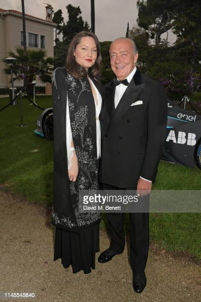Sophie Taylor and Fawaz Gruosi attend a private dinner hosted by Alejandro Agag to celebrate the World Premiere of Formula E documentary And We Go...