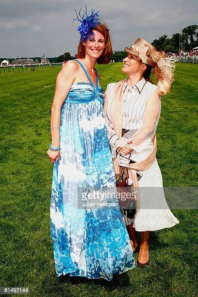 Sophie Thalmann and Princess Zahra pose after Le Prix de Diane ceremony on June 08 2008 in Chantilly France