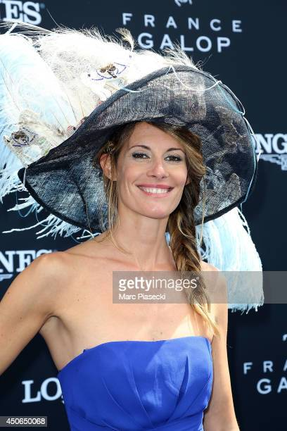 Sophie Thalmann attends the 'Prix de Diane Longines 2014' at Hippodrome de Chantilly on June 15 2014 in Chantilly France