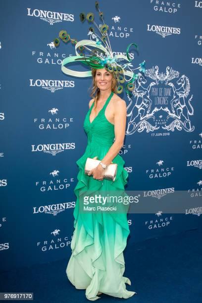 Sophie Thalmann attends the Prix de Diane Longines 2018 at Hippodrome de Chantilly on June 17 2018 in Chantilly France