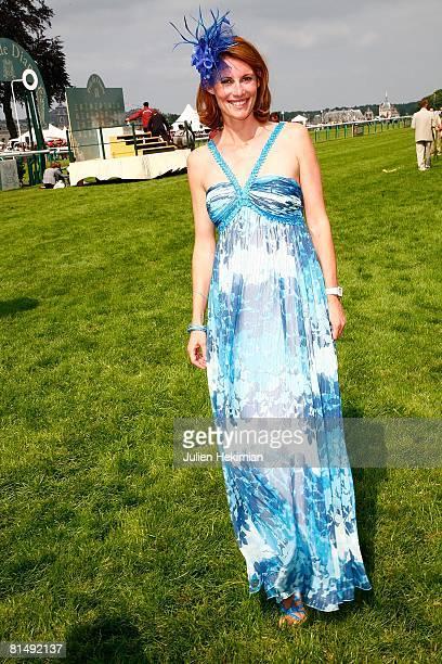 Sophie Thalmann poses after Le Prix de Diane ceremony on June 08 2008 in Chantilly France