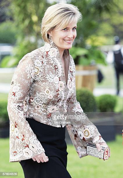 Sophie the Countess of Wessex arrives for a party/dinner at the Royal Windsor Horse Show on May 12 2006 in Windsor England