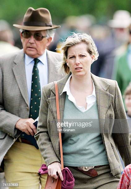 Sophie the Countess of Wessex with her father Christopher RhysJones behind attends the third day of Royal Windsor Horse Show on May 12 2007 in...