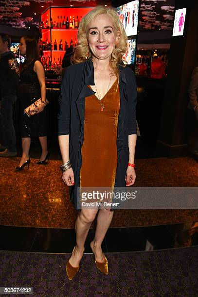 """Sophie Thompson attends the press night after party for """"Guys And Dolls"""" at The Hippodrome Casino on January 6, 2016 in London, England."""
