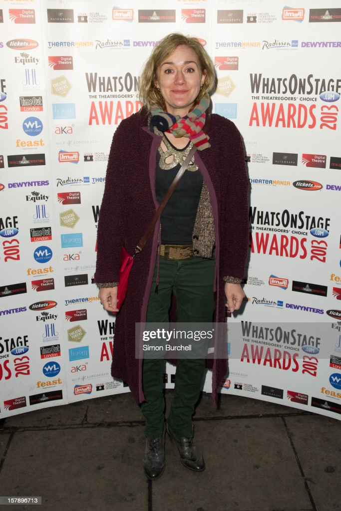Sophie Thompson attends the Whatsonstage.com Theare Awards nominations launch at Cafe de Paris on December 7, 2012 in London, England.