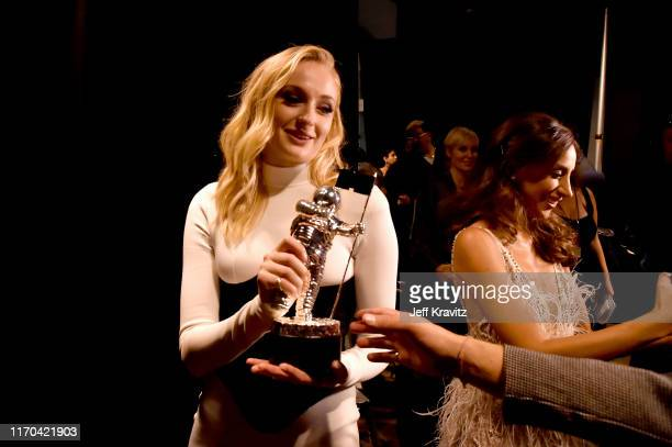 Sophie Turner and Danielle Jonas backstage during the 2019 MTV Video Music Awards at Prudential Center on August 26 2019 in Newark New Jersey