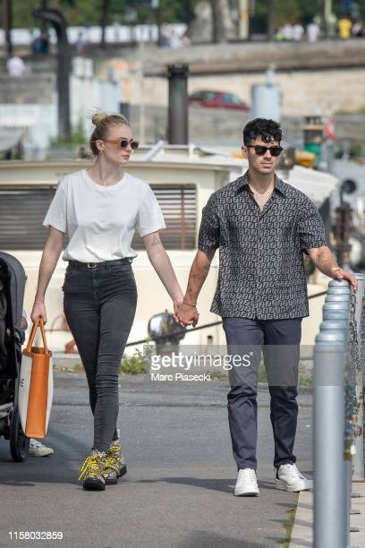 Sophie Turner and Joe Jonas are seen as they disembarked from the boat 'Shivas' after a cruise with Priyanka Chopra Nick Jonas and Wilmer Valderrama...