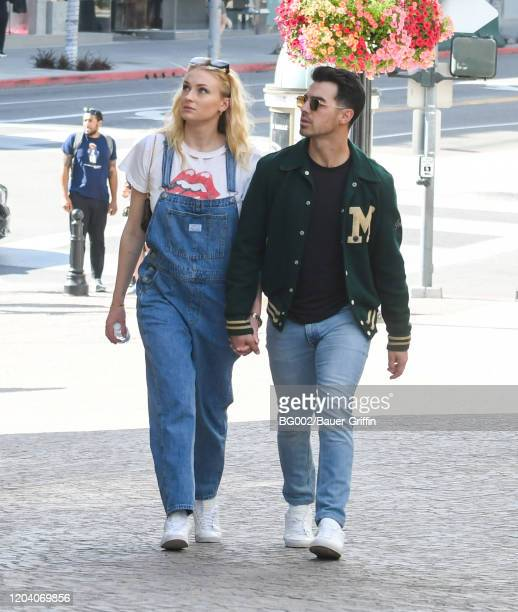 Sophie Turner and Joe Jonas are seen on February 28, 2020 in Los Angeles, California.