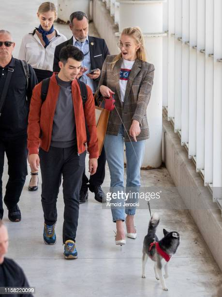 Sophie Turner and Joe Jonas are seen on June 25 2019 in Avignon France