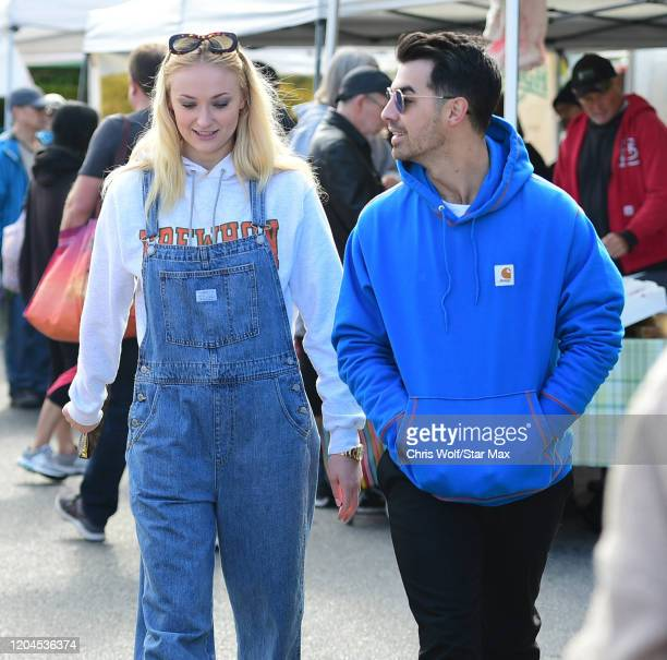 Sophie Turner and Joe Jonas are seen on March 1, 2020 in Los Angeles, California.