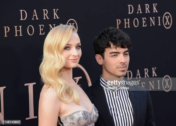 Sophie Turner and Joe Jonas arrive for the Premiere Of 20th Century Fox's Dark Phoenix held at TCL Chinese Theatre on June 4 2019 in Hollywood...