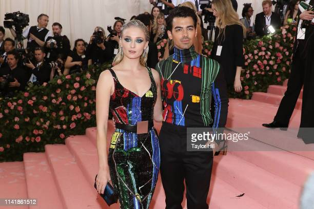 "Sophie Turner and Joe Jonas attend the 2019 Met Gala celebrating ""Camp: Notes on Fashion"" at The Metropolitan Museum of Art on May 6, 2019 in New..."