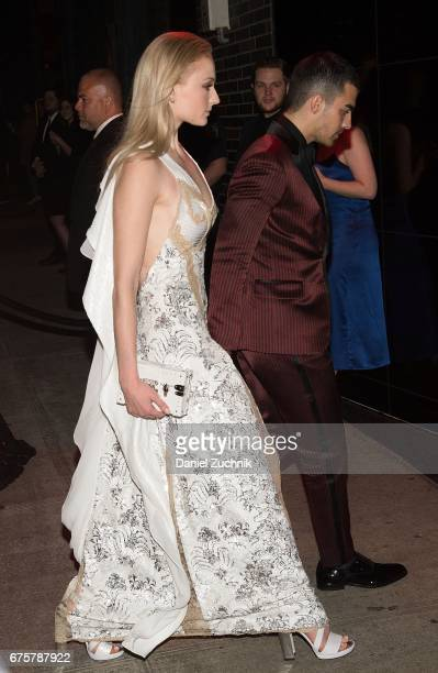 Sophie Turner and Joe Jonas attend the Marc Jacobs afterparty of the Rei Kawakubo/Comme des Garcons Art Of The InBetween Costume Institute Gala at...