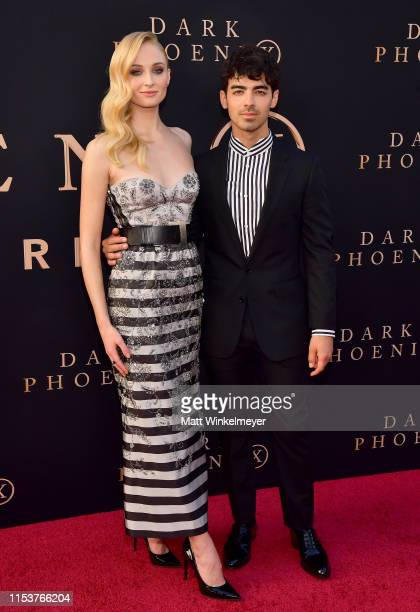 "Sophie Turner and Joe Jonas attend the premiere of 20th Century Fox's ""Dark Phoenix"" at TCL Chinese Theatre on June 04, 2019 in Hollywood, California."