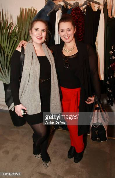 Sophie Turner and Jonna Capone attend Slink Magazine x 11Honoré NYFW Event at 111 8th Ave on February 10 2019 in New York City
