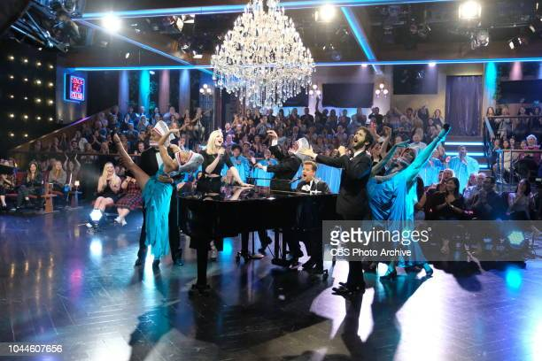 Sophie Turner and Josh Groban perform the viral kids' sensation 'Baby Shark with James Corden as a beautiful pianodriven adult contemporary ballad on...