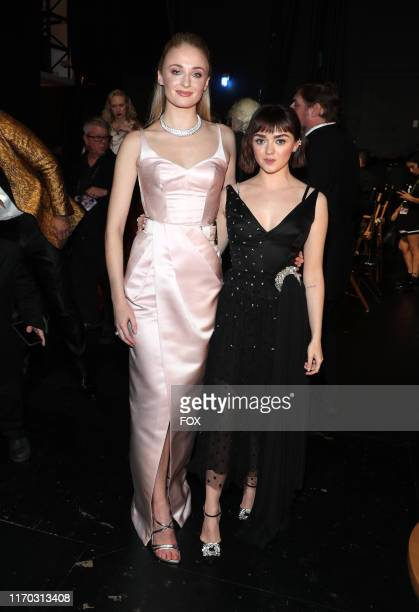 Sophie Turner and Maisie Williams behind the scenes during the 71ST PRIMETIME EMMY® AWARDS airing live from the Microsoft Theater at L.A. LIVE in Los...