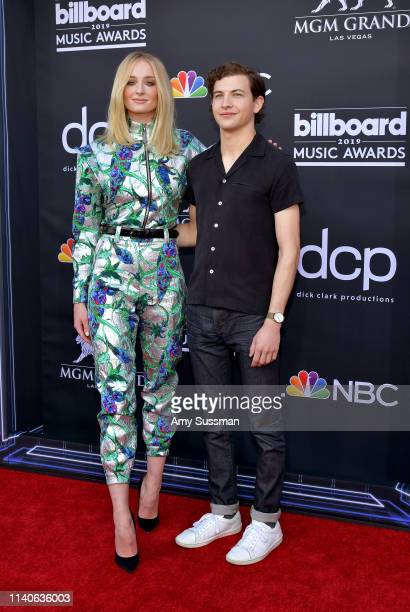 Sophie Turner and Tye Sheridan attend the 2019 Billboard Music Awards at MGM Grand Garden Arena on May 1, 2019 in Las Vegas, Nevada.