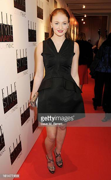 Sophie Turner arrives at the Elle Style Awards at The Savoy Hotel on February 11 2013 in London England