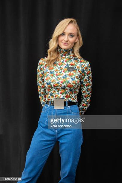 """Sophie Turner at the """"Dark Phoenix"""" Press Conference at The London Hotel on March 28, 2019 in West Hollywood, California."""