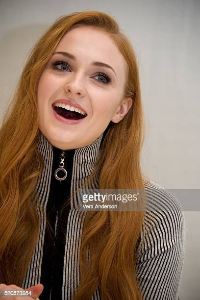 Sophie Turner at the 'Game of Thrones' Press Conference at the Four Seasons Hotel on April 11 2016 in Beverly Hills California