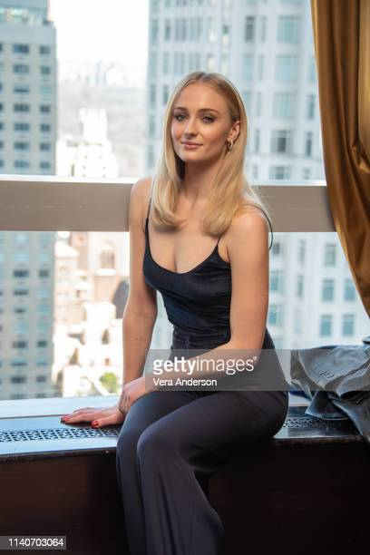 Sophie Turner at the Game Of Thrones Press Conference at the Mandarin Oriental Hotel on April 04 2019 in New York City