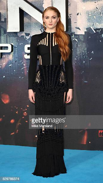 Sophie Turner attends a Global Fan Screening of XMen Apocalypse at BFI IMAX on May 9 2016 in London England