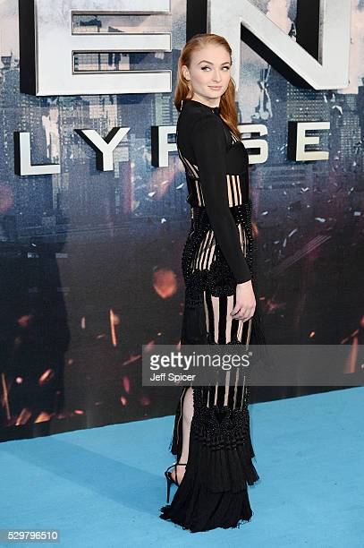 Sophie Turner attends a Global Fan Screening of 'XMen Apocalypse' at BFI IMAX on May 9 2016 in London England