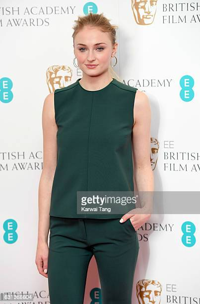 Sophie Turner attends as the nominations for the EE British Academy Film Awards are announced at BAFTA on January 10 2017 in London United Kingdom