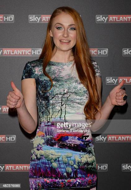 Sophie Turner attends 'Game Of Thrones Premiere on April 3 2014 in Milan Italy
