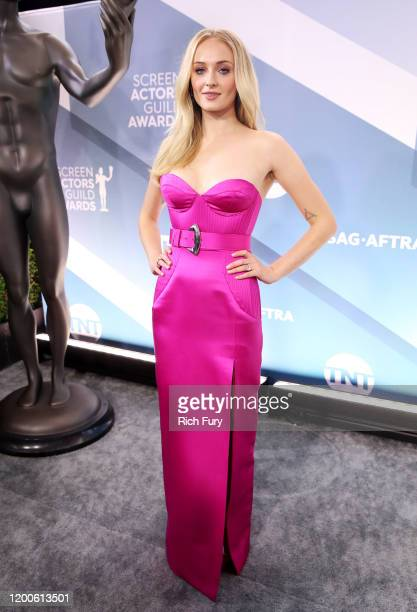 Sophie Turner attends the 26th Annual Screen Actors Guild Awards at The Shrine Auditorium on January 19, 2020 in Los Angeles, California.