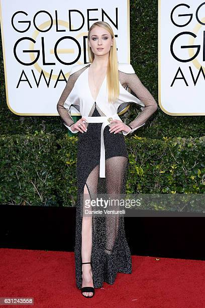 Sophie Turner attends the 74th Annual Golden Globe Awards at The Beverly Hilton Hotel on January 8 2017 in Beverly Hills California