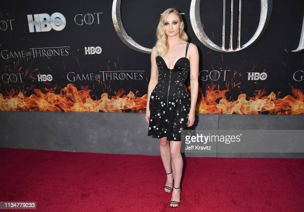 Sophie Turner attends the Game Of Thrones Season 8 NY Premiere on April 3 2019 in New York City